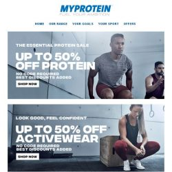 [MyProtein] Ending Soon: Up to 50% Off Protein and more