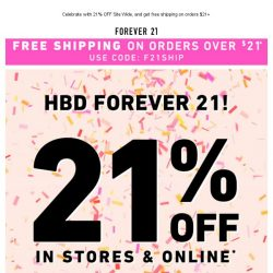 [FOREVER 21] 🎉🎂 HAPPY BIRTHDAY TO US 🎂🎉