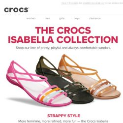 [Crocs Singapore] The Crocs Isabella Collection: more feminine, more refined, more fun