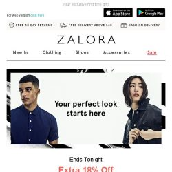 [Zalora] Last Day! Don't Forget Your Exclusive Extra 18% Off