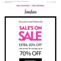 [Neiman Marcus] Extra 20% off Sale! Your Tuesday treat