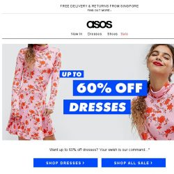 [ASOS] Up to 60% off dresses – success!
