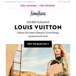 [Neiman Marcus] New from Louis Vuitton: Daring, Confident & Always on the Move