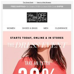 [Saks OFF 5th] Your Diane von Furstenberg item is waiting + Starts today - Up to 80% OFF dresses!
