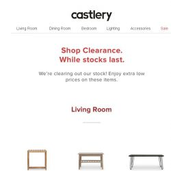[Castlery] Clearance! It's Now or Never.
