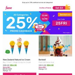 [Fave] 1 for 1 Dessert: New Zealand Natural Ice Cream | Beriwell