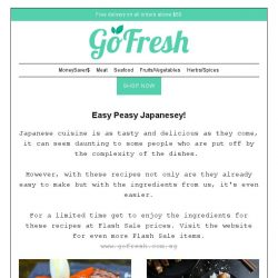 [GoFresh] GoFresh: Delicious Japanese Recipes just for you
