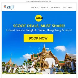 [Zuji] ✈ BQ.sg, Attention! Scoot deals from $109