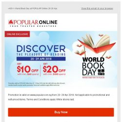 [Popular] World Book Day 2018 @ POPULAR Online