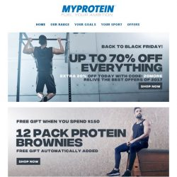 [MyProtein] [NOW LIVE] Back to Black Friday!