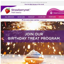 [StrawberryNet] , 🎂 Join Our Birthday Program and Get a Birthday Treat!