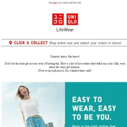 [UNIQLO Singapore] Special offers ending today!