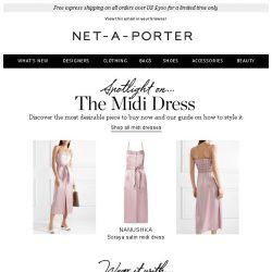 [NET-A-PORTER] The midi dress you must own