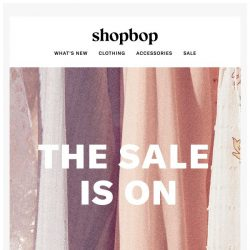 [Shopbop] The SALE is on! New styles just added