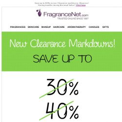 [FragranceNet] [ALERT] As low as $5.99: new clearance markdowns!