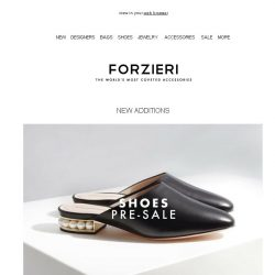 [Forzieri] Now on Pre-Sale: More than 50 Shoe Designers // Summer 18