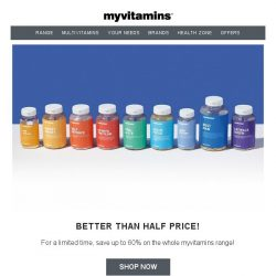 [MyVitamins] FREE Beanies + up to 60% off