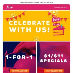 [Fave] Fave is ONE! Celebrate with us today!