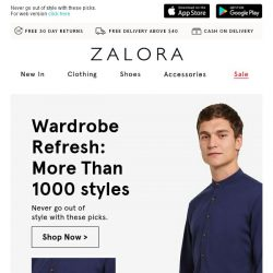 [Zalora] Wardrobe Refresh: More than 1000 styles