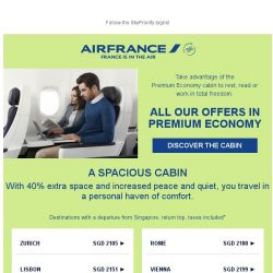 [AIRFRANCE] Delighted travel in Premium Economy class!