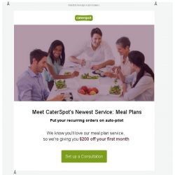 [CaterSpot] New Meal Planning Service