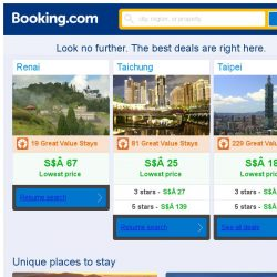 [Booking.com] Renai, Taichung, or Taipei? Get great deals, wherever you want to go