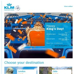 [KLM] Orange deals to celebrate King's Day ♛