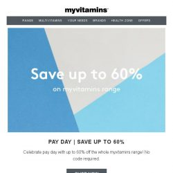 [MyVitamins] 60% Clearance Sale + FREE Coffee
