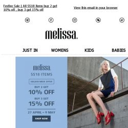[Mdreams] Melissa Golden Week Offer
