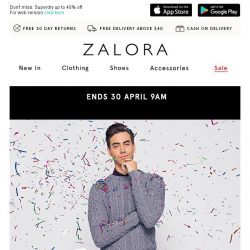 [Zalora] 🎂 Last Call: EXTRA 25% Off with no min spend - ZALORA's Birthday Sale!