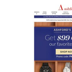 [Ashford] Get $99 off our favorite pieces
