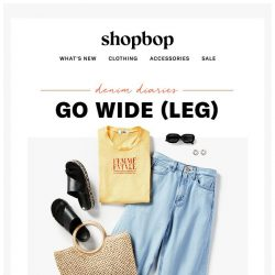 [Shopbop] How to pull off wide-leg jeans