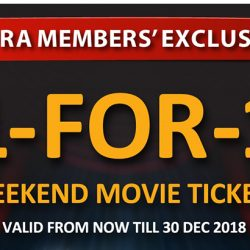 Shaw Theatres: Safra Members Enjoy 1-for-1 Weekend Movie Tickets!