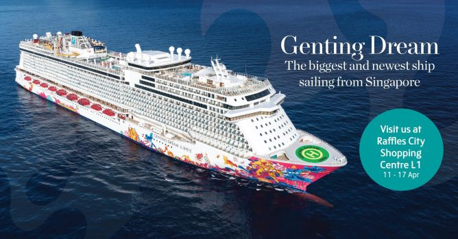 Dream Cruises Up To 20 Off With 3rd 4th Pax Free On Genting Dream Till 30 Apr 2018 Bq Sg Bargainqueen