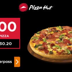 Pizza Hut: Enjoy $1 Large Pan Pizza when You Checkout with Masterpass