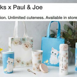 Starbucks: Limited Edition Starbucks x Paul & Joe Collection Available from 23 Apr!
