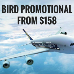 Singapore Airlines: Early Bird Promotional Fares to Over 55 Destinations from SGD158