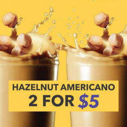 The Coffee Bean & Tea Leaf: Enjoy a Hazelnut Americano at only $3 or Get 2 at $5!
