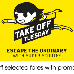 Scoot: Take-Off Tuesday with 50% OFF Airfares to Taipei, Phuket, Langkawi, Melbourne & More!