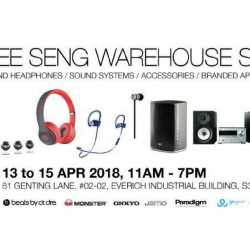 Hwee Seng Electronics: Warehouse Sale Up to 90% OFF Beats, Onkyo, Paradigm, Monster & More