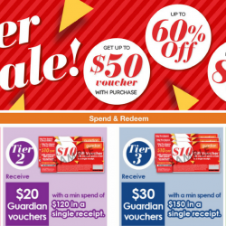 Guardian: 2-day Super Sale with Up to 60% OFF & Get Up to $50 Voucher with Purchase!