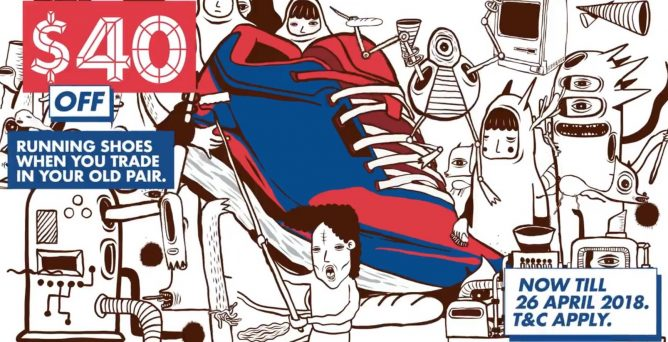 reputable site 14212 3bf98 Till 26 Apr 2018 Royal Sporting House  Trade-in Your Old Shoes for  40 OFF  Shoes from Nike, Adidas, Reebok, New Balance   More!