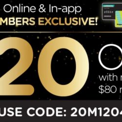 Watsons: Coupon Code for $20 OFF with $80 Nett Spend Online
