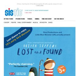 [SISTIC] LOST and FOUND – Live theatre for young kids - from the international best seller Oliver Jeffers