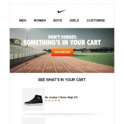 [Nike] You Left Something in Your Cart