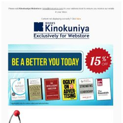 [Books Kinokuniya] Be A Better You Today, and support your child's STEM education this May with 15% off, exclusively on Kinokuniya Webstore Singapore!