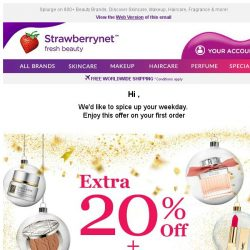 [StrawberryNet] Extra 20% Off + Free Shipping is here to Spice up Your Week!