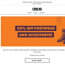 [ASOS] 20% off shoes and accessories