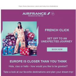 [AIRFRANCE] Discover our best deals from Singapore ☼