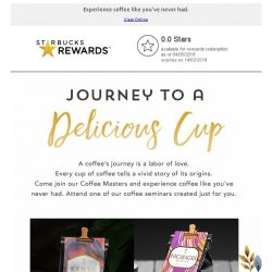 [Starbucks] Join us on a coffee's journey created just for you